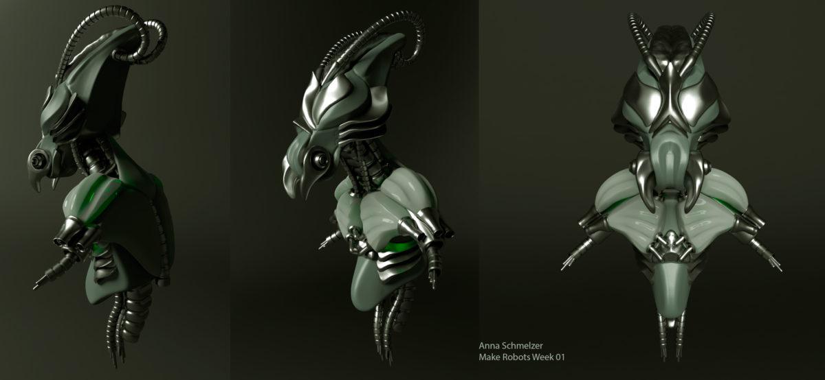 Mantis Robo Bust