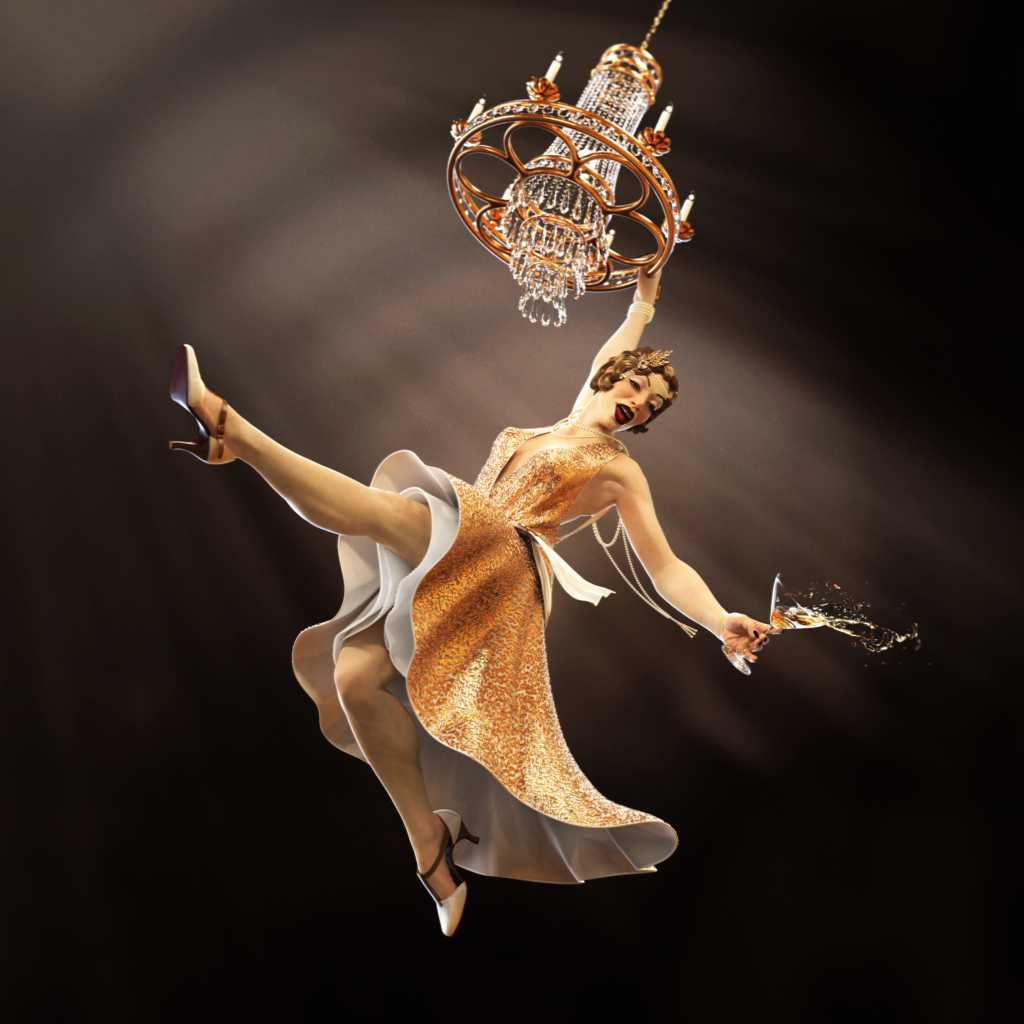 Keyshot World Chandelier Party Girl Render by Anna Schmelzer