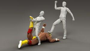wrestling inspired scene using Hulk Hogen toy figure