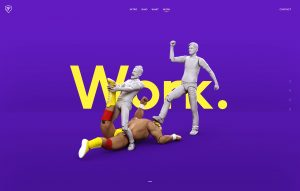 the hulk scene as an example of the usage of 3D models in Webdesign