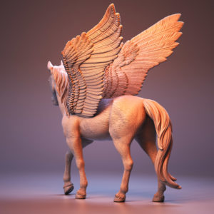 3D model of Pegasus for Schleich Toys sculpted in ZBrush by 3D digital artist Anna Schmelzer