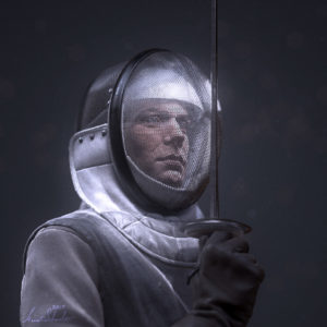 Fencer CGI model ZBrush