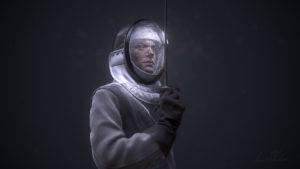 zbrush fencer model digital sculpture cg rendering