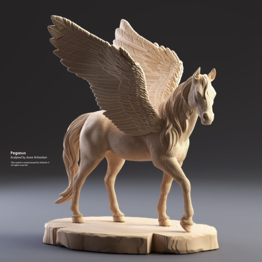 Pegasus Toy Model Sculpted In ZBrush For Schleich GmbH