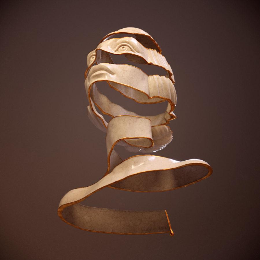 Escheresque style portrait_ZBrush_Anna Schmelzer-Grunge-Under
